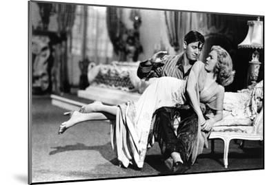 Woman Laid on the Kneel of a Man Have Her Bottom Smacked, 40'S--Mounted Photo