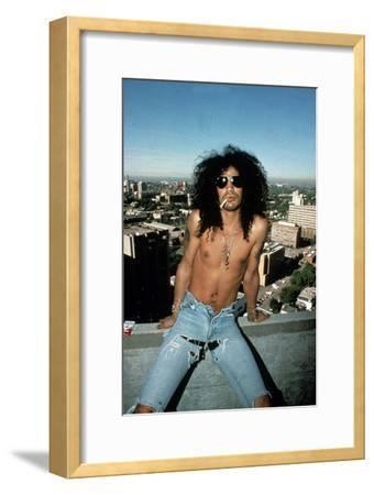 Slash, Guitarist Member of Group Guns N'Roses in 1992--Framed Photo
