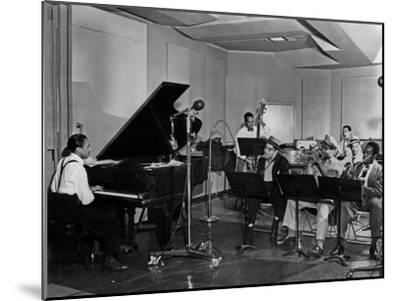 Buck Clayton, Charlie Parker, Dexter Gordon, Charles Thompson, Danny Barker, Jimmy Butts, JC Heard--Mounted Photo