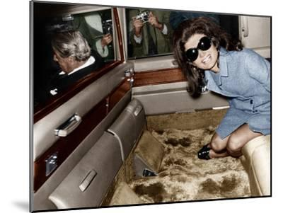 Jackie Kennedy Onassis Leaving London Airport, Aristotle Onassis Driving, 15th November 1968--Mounted Photo