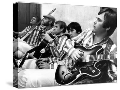 The Beach Boys (Dennis Wilson, Dave Marks, Carl Wilson, Brian Wilson and Mike Love) July 11, 1966--Stretched Canvas Print