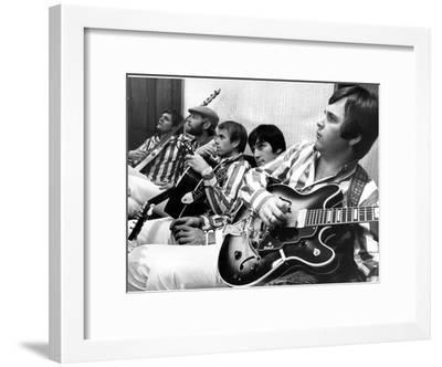 The Beach Boys (Dennis Wilson, Dave Marks, Carl Wilson, Brian Wilson and Mike Love) July 11, 1966--Framed Photo