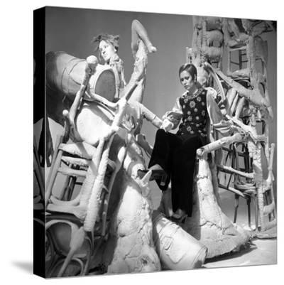 Fashion Show for Television, 26 February 1969, France--Stretched Canvas Print