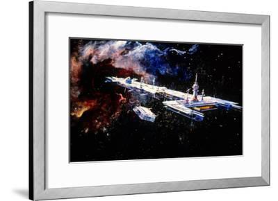 Le Trou Noir the Black Hole De Gary Nelson 1979--Framed Art Print