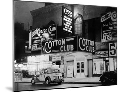 The Cotton Club in Harlem (New York) in 1938--Mounted Photo
