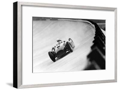 On Monza Circuit, Qualifying Round for Cars for the Grand Prix Which Take Place on Sept 2, 1955--Framed Photo