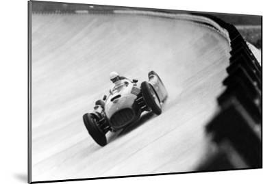 On Monza Circuit, Qualifying Round for Cars for the Grand Prix Which Take Place on Sept 2, 1955--Mounted Photo