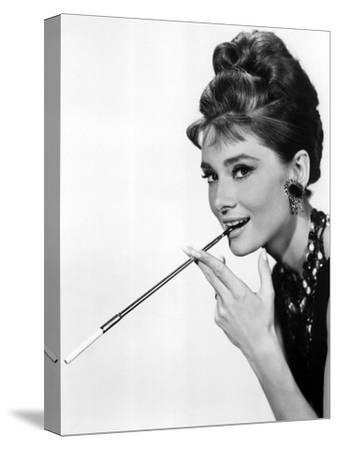 Audrey Hepburn in Breakfast at Tiffany's, 1961--Stretched Canvas Print