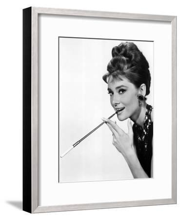 Audrey Hepburn in Breakfast at Tiffany's, 1961--Framed Photo