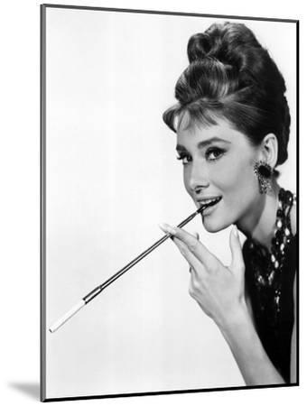 Audrey Hepburn in Breakfast at Tiffany's, 1961--Mounted Photo