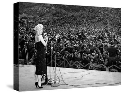 """Marilyn Monroe Named """"Member of Honour of the 25E Division"""" on February 16-19, 1954--Stretched Canvas Print"""
