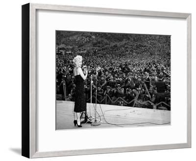 """Marilyn Monroe Named """"Member of Honour of the 25E Division"""" on February 16-19, 1954--Framed Photo"""