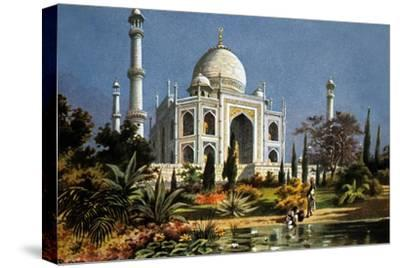 The Taj Mahal in Agra (India) Marble Mausoleum Built in 1632 - 1644--Stretched Canvas Print