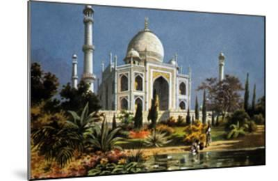 The Taj Mahal in Agra (India) Marble Mausoleum Built in 1632 - 1644--Mounted Art Print