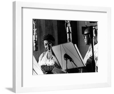 Ella Fitzgerald, American Jazz Singer with Louis Armstrong, Jazz Trumpet Player--Framed Photo