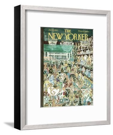 The New Yorker Cover - January 23, 1960-Anatol Kovarsky-Framed Premium Giclee Print