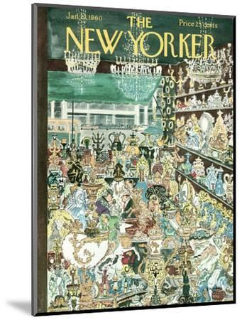 The New Yorker Cover - January 23, 1960-Anatol Kovarsky-Mounted Premium Giclee Print