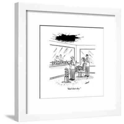 """Bad chair day."" - New Yorker Cartoon-Tom Cheney-Framed Premium Giclee Print"