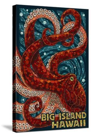 Big Island, Hawaii - Octopus - Mosaic-Lantern Press-Stretched Canvas Print