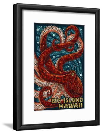 Big Island, Hawaii - Octopus - Mosaic-Lantern Press-Framed Art Print