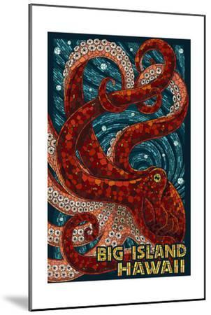 Big Island, Hawaii - Octopus - Mosaic-Lantern Press-Mounted Art Print
