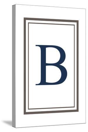 Monogram - Estate - Gray and Blue - B-Lantern Press-Stretched Canvas Print