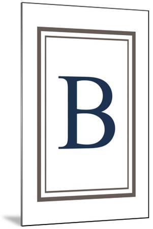 Monogram - Estate - Gray and Blue - B-Lantern Press-Mounted Art Print