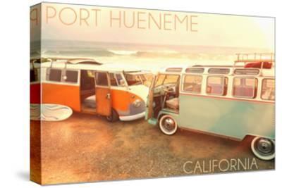 Port Hueneme, Californias on Beach-Lantern Press-Stretched Canvas Print