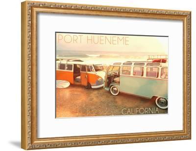 Port Hueneme, Californias on Beach-Lantern Press-Framed Art Print
