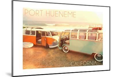 Port Hueneme, Californias on Beach-Lantern Press-Mounted Art Print