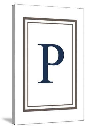 Monogram - Estate - Gray and Blue - P-Lantern Press-Stretched Canvas Print