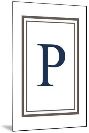 Monogram - Estate - Gray and Blue - P-Lantern Press-Mounted Art Print
