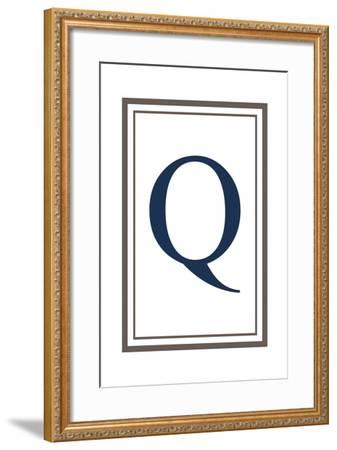 Monogram - Estate - Gray and Blue - Q-Lantern Press-Framed Art Print
