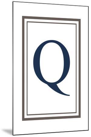 Monogram - Estate - Gray and Blue - Q-Lantern Press-Mounted Art Print
