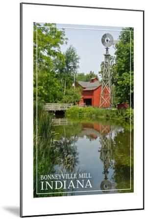 Indiana - Bonneyville Mill-Lantern Press-Mounted Art Print