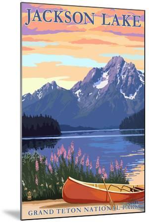 Grand Teton National Park - Jackson Lake-Lantern Press-Mounted Art Print