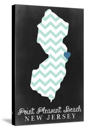 Point Pleasant Beach, New Jersey - Chalkboard-Lantern Press-Stretched Canvas Print
