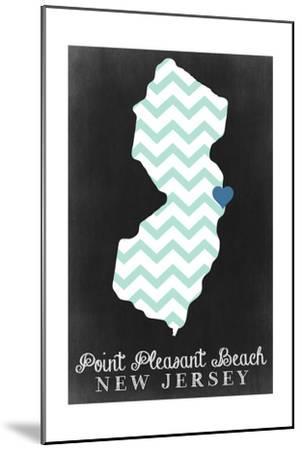 Point Pleasant Beach, New Jersey - Chalkboard-Lantern Press-Mounted Art Print