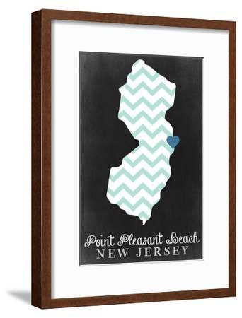 Point Pleasant Beach, New Jersey - Chalkboard-Lantern Press-Framed Art Print