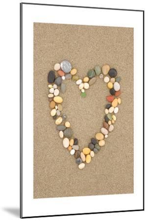 Stone Heart on Sand-Lantern Press-Mounted Art Print