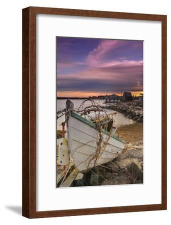Fishing Boat on Shore-Lantern Press-Framed Art Print