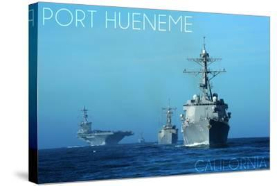 Port Hueneme, California - USS Stockdale and USS Gary-Lantern Press-Stretched Canvas Print