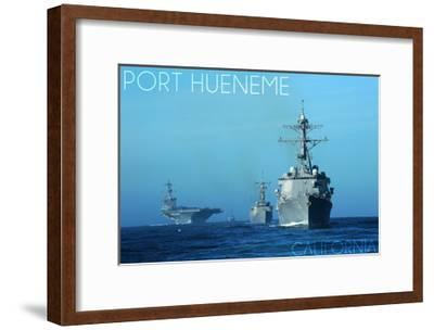 Port Hueneme, California - USS Stockdale and USS Gary-Lantern Press-Framed Art Print