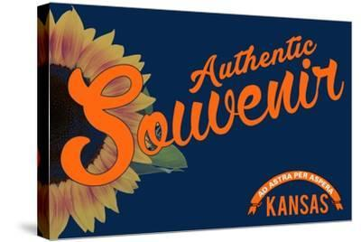 Visited Kansas - Authentic Souvenir-Lantern Press-Stretched Canvas Print