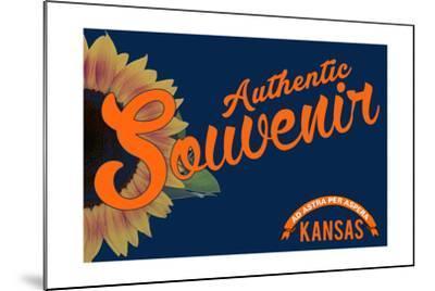 Visited Kansas - Authentic Souvenir-Lantern Press-Mounted Art Print