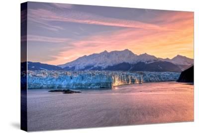 Glacier at Sunrise-Lantern Press-Stretched Canvas Print
