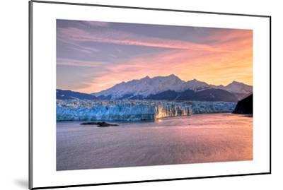 Glacier at Sunrise-Lantern Press-Mounted Art Print
