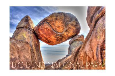 Big Bend National Park, Texas - Balanced Rock-Lantern Press-Framed Art Print