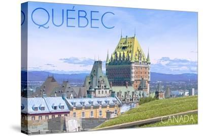 Quebec, Canada - Chateau Frontenac-Lantern Press-Stretched Canvas Print