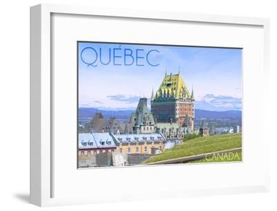 Quebec, Canada - Chateau Frontenac-Lantern Press-Framed Art Print